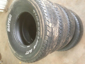 Set of four used tires lt265/75/16