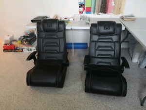 Two X Rocker gaming chairs for sale