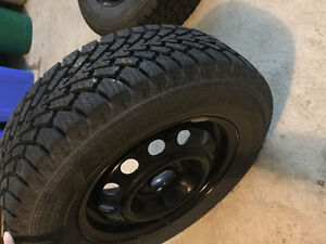 GOODYEAR WINTER TIRES 185/70 R14 - ALMOST NEW CONDITION