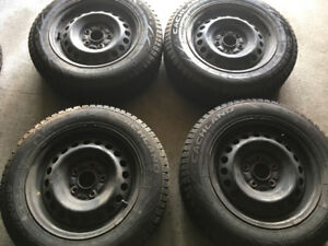 (4) X CACHLAND WINTER TIRES ON RIMS - 195/65/15