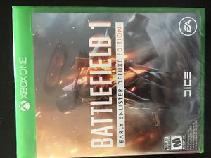 Brand New Battlefield 1 XBox One early enlister deluxe edition