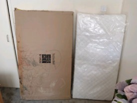 Argos toddler bed still in box and Argos mattress Still in plastic