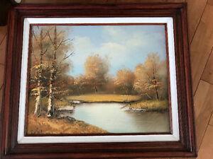 3 framed canvas painting originals