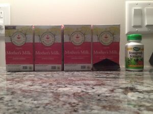Mothers milk tea and fenugreek supplements