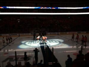 Jets vs Oilers DEC11 CENTRE ICE CLUB Row 8 Benchside on Aisle!