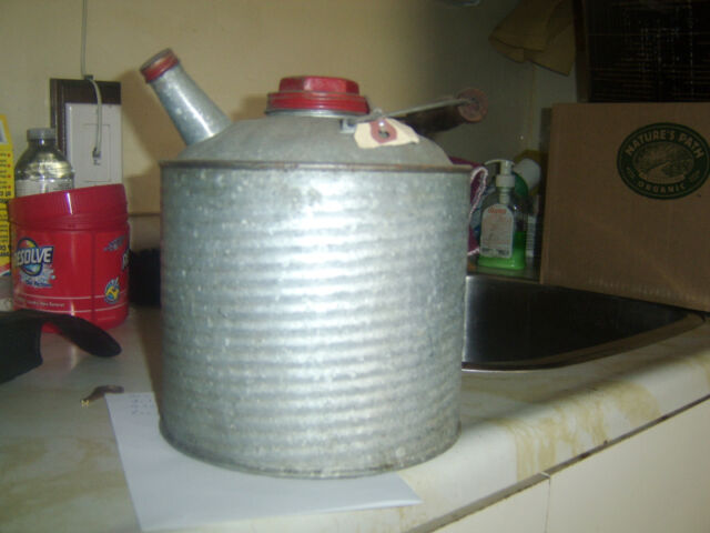 Antique vintage gas can