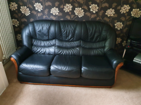 Leather Sofas and TV inc TV stand