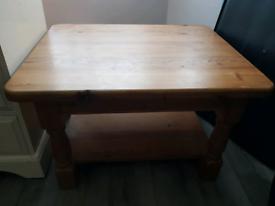 Chunky Farmhouse Style pine coffee table