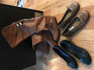2 pair of shoes 1 pair of boots