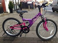 "USED KIDS BICYCLE GIRLS PINK 20"" INCH WHEEL SIZE ONLY £49"
