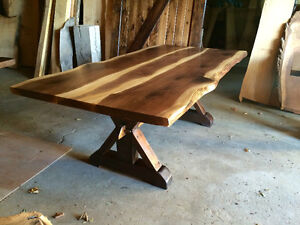Rustic barnboard live edge custom tables cabinets benches doors Cambridge Kitchener Area image 9