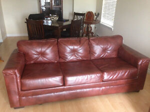 leather couch n loveseat