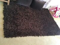 Chocloate Brown Shaggy style rug