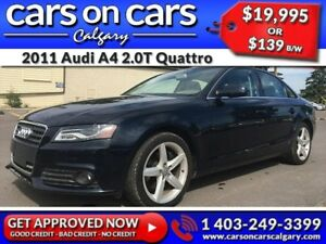 2011 Audi A4 2.0T Quattro w/Leather, Sunroof $139 B/W INSTANT AP