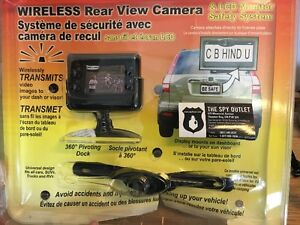 Wireless Rear View Camera & LCD Monitor Safety System