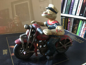 Popeye on a Motorcycle Reproduction Hubley