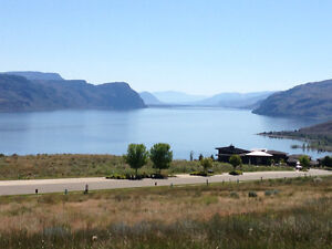 Lake and golf course view lot in Tobiano