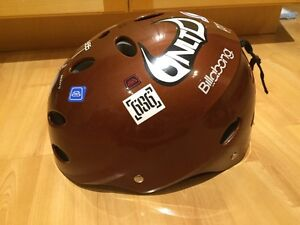 Young Boys Ski/Board Helmet Brown with decals