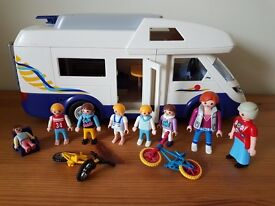 Playmobil campervan (4859) with extra people. VGC.