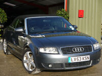 Audi A4 Cabriolet 3.0 Quattro Sport - CAMBELT DONE> MOT MAY 17