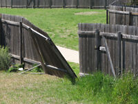 Fence post replacement ( for leaning fences )