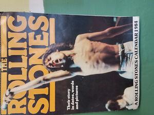 ROLLING STONES  1984 CALENDER