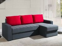 Corner Sofa Bed INES Red