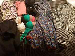 Womens size 2-4 clothing and 6 bras a36-b38
