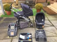 Mamas & Papas Pliko Switch Buggy + Primo Viaggio car seat and isofix bases