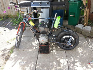 Motorized bike with a rotax 377 engine