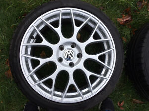 Set of 18 inch replica wheels and tires 5 x 112 fits most VW Oakville / Halton Region Toronto (GTA) image 1