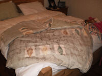 Duvet comforter and 2 shams
