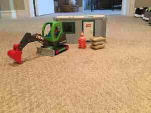 Playmobil Construction Office And Excavator