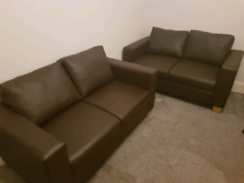 2 Faux Leather Sofa - ONLY £99 Each