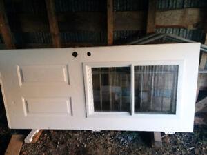 Porte acier extérieur 351/2 x79 blanc