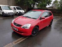 Honda Civic 1.7 Ctdi Red 3Dr