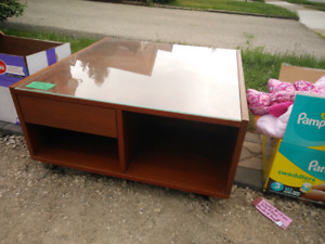 Ikea Coffee Table w/ Glass Top