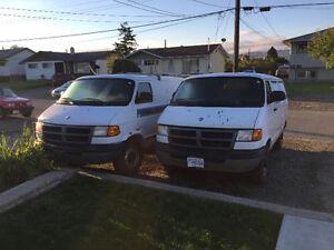 2002 Dodge Power Ram 3500 Minivan, Van (2 Vans for price of 1)