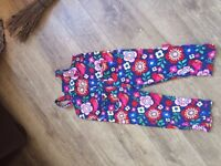 Toby tiger cord dungarees bird/flower design. 2 - 3 years