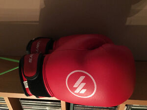 Warriors 6oz Boxing Gloves - Red