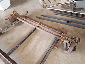 Trailer parts/axles/metal