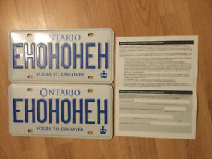 Ontario Personalized License Plate EHOHOHEH