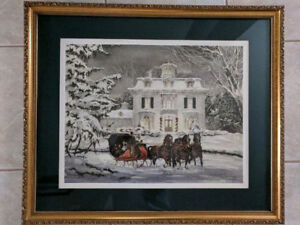 Larger Print Painting of Horses and Snow - Walter Campbell