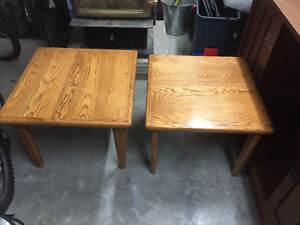 3 solid oak tables for $180!!!
