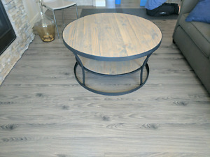Metal and Wood Coffee Table (Bouclair Brand New)