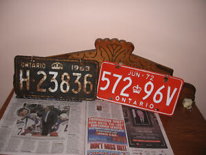 Old License Plates For Sale!