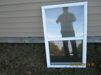 SMALL WHITE VINYL WINDOW IN GREAT SHAPE, 24 x 38