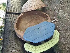 Bac à sable Step 2 avec table pique-nique