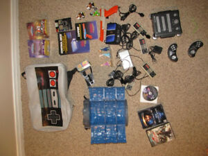 Gamer's Lot - NES Backpack, Controllers, Manuals, Zapper, ETC