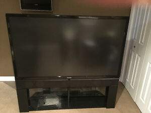 "60"" Toshiba DLP TV with stand"